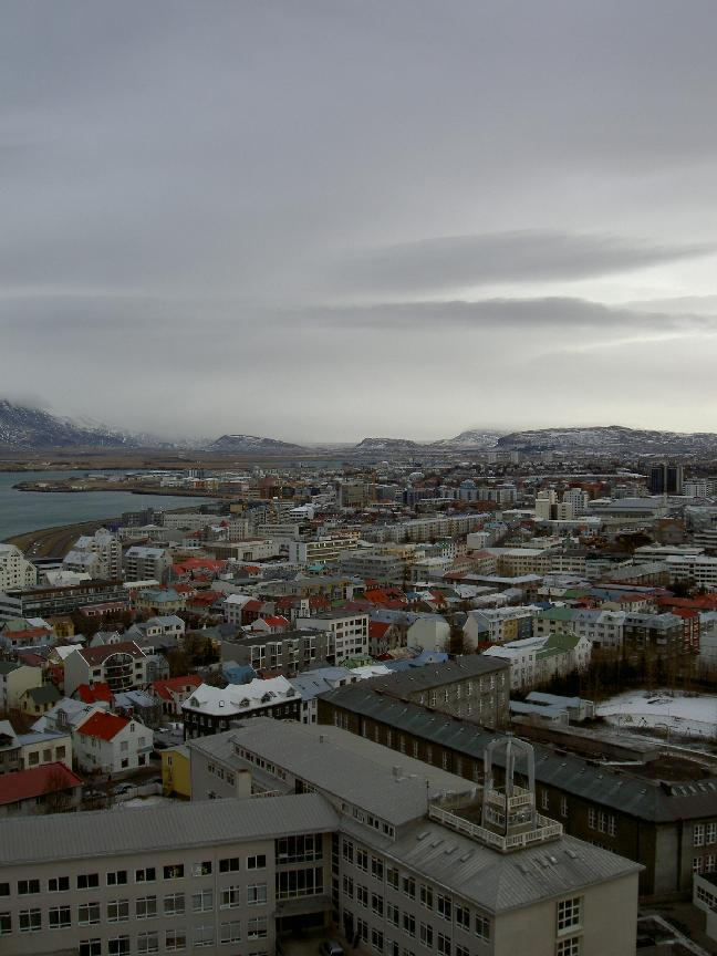 View of Reykjavik from Hallgrims church tower (purpose of page is to display an image)