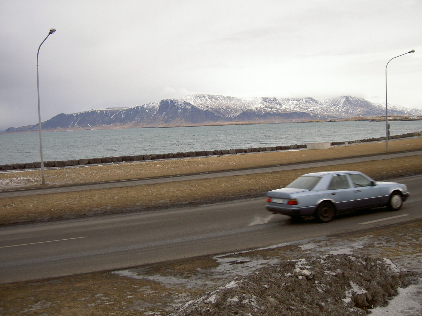 Sea as seen in Reykjavik (purpose of page is to display an image)