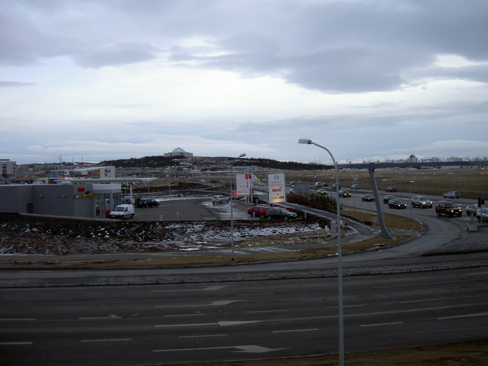 Reykjavik, with the Pearl restaurant in the distance (purpose of page is to display an image)