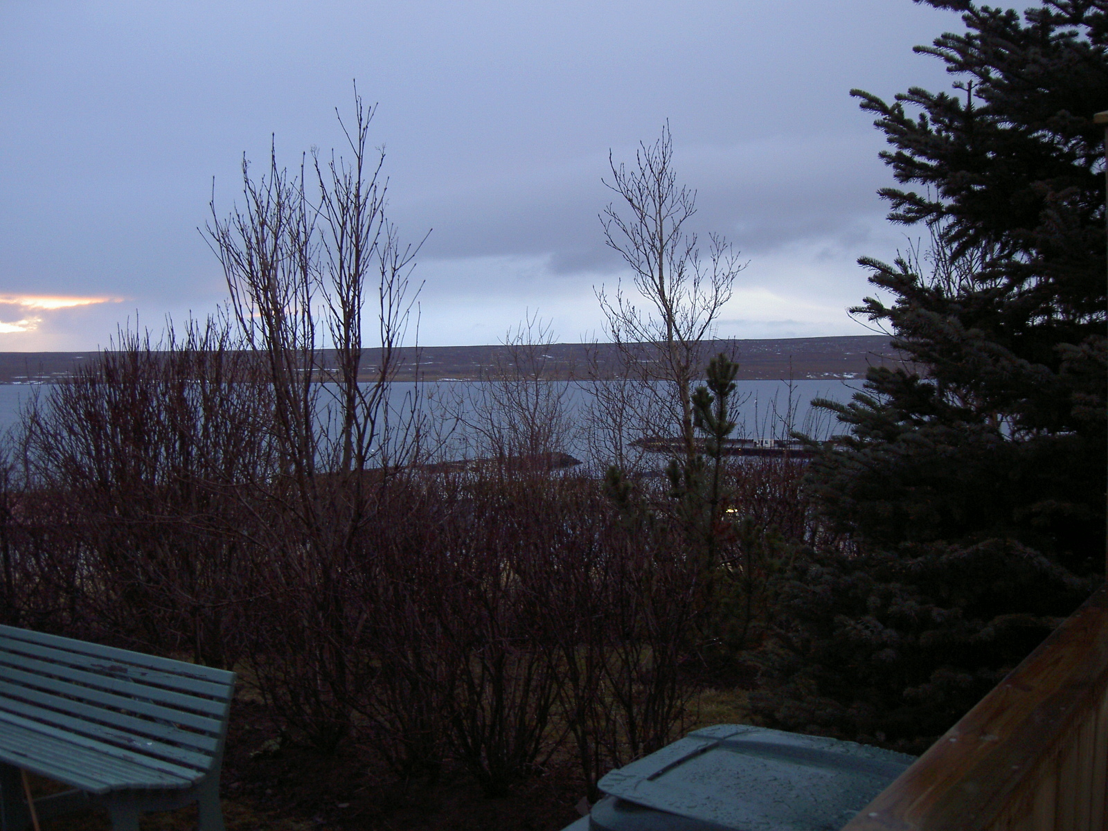 View from guesthouse in Hvammstangi (purpose of page is to display an image)