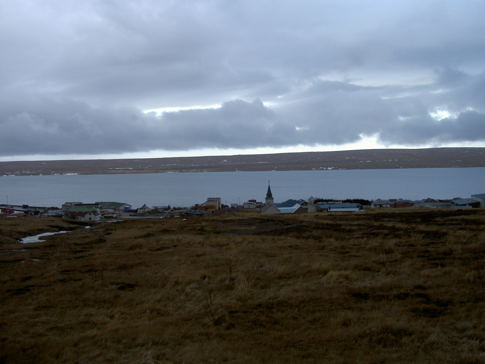 Hiking trail behind the church in Hvammstangi, Northwest Iceland (purpose of page is to display an image)