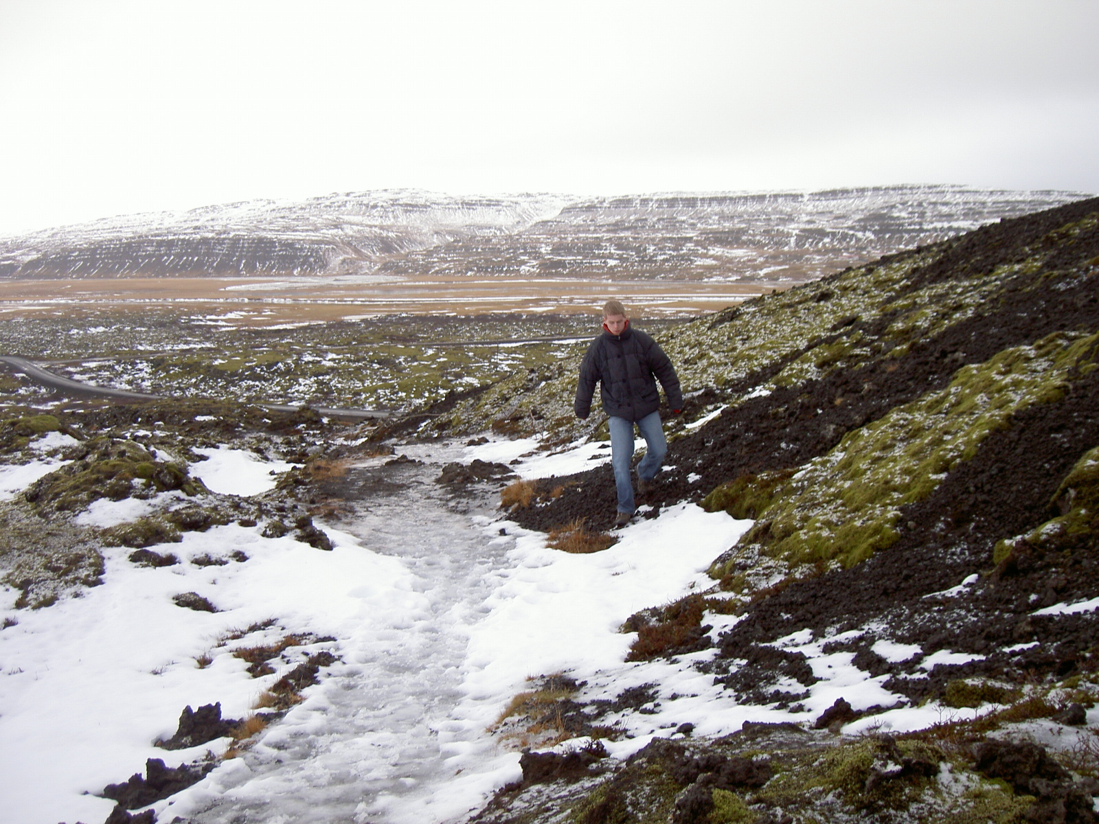 Bastiaan on the path to Grabrok crater (purpose of page is to display an image)