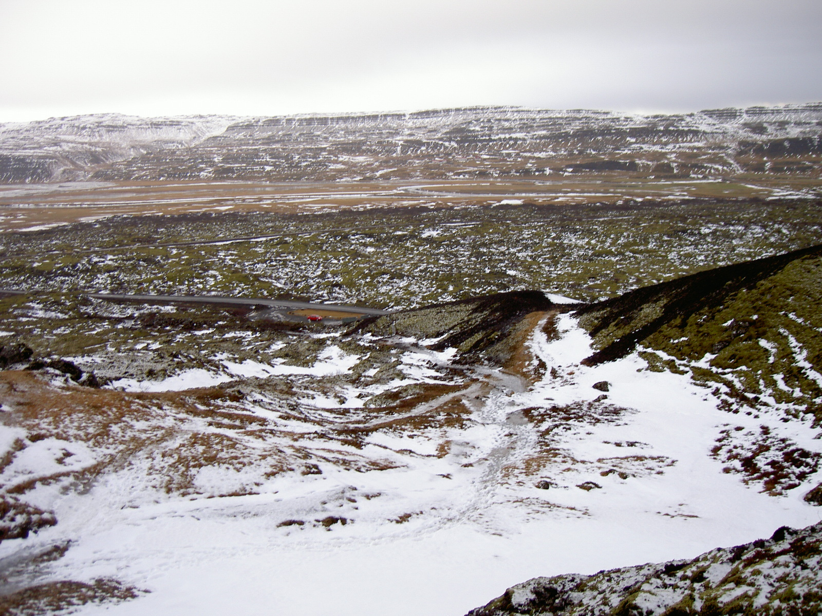 Climbing toward Grabrok crater (purpose of page is to display an image)