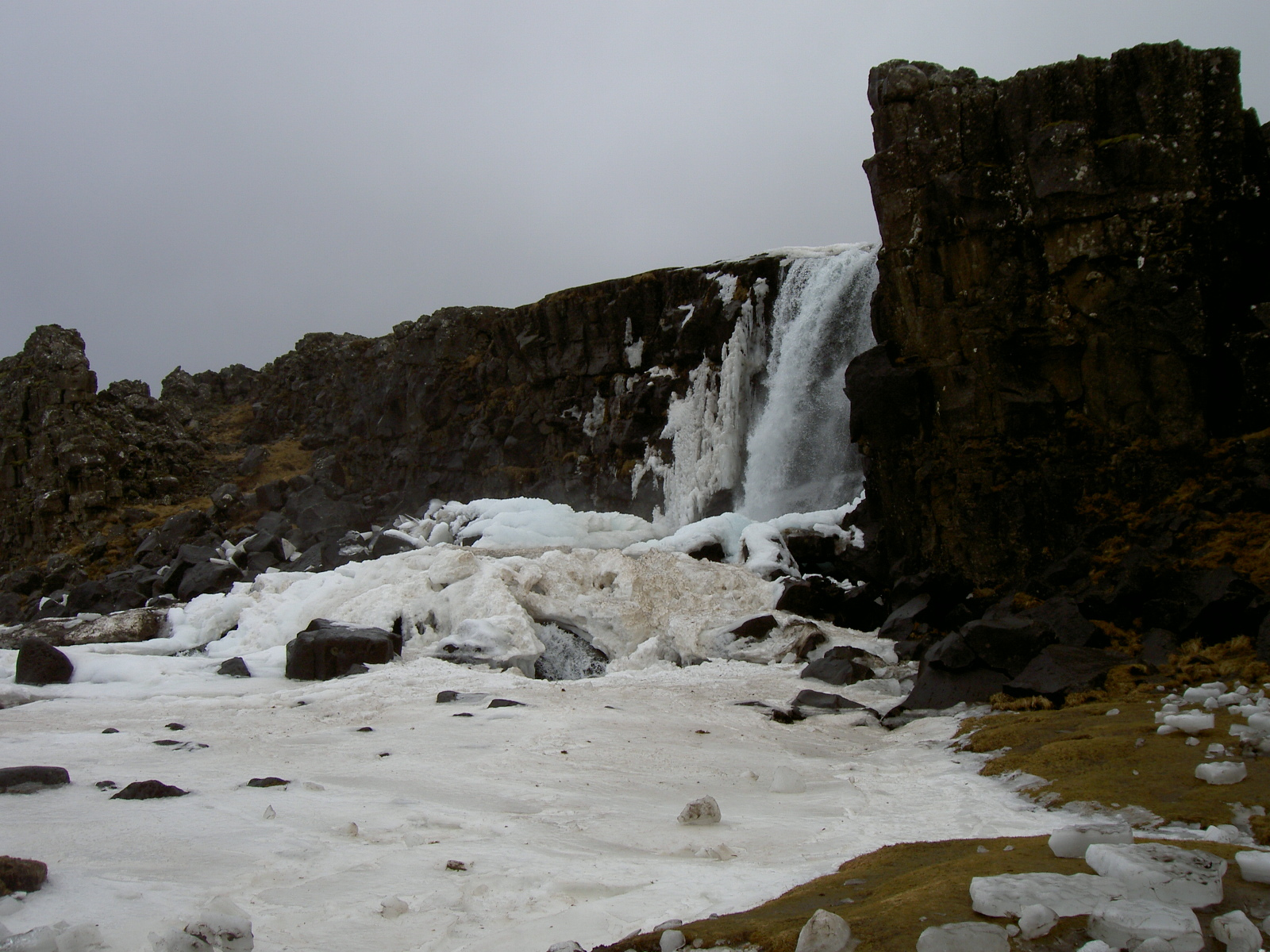 Waterfall close to lake Thingvallavatn (purpose of page is to display an image)